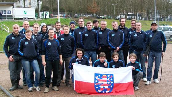 Das PV Ost-Team 2014 vor der Halle in Saarbrücken-Gersweiler