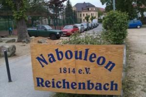 Der älteste Bouleverein Deutschlands?  Nein, die Jahreszahl verweist auf eine Schlacht Napoleons genau an diesem Ort...