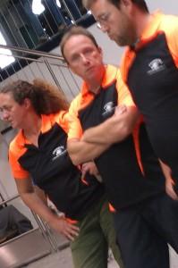 Erfolgreiches Triplette: Antje, Hartmut und Stephan