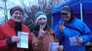 Platz 2 im B: Anja Herrmann, Mandy Zettler und Sabine Friedel