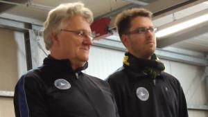 Seite an Seite und doch gegeneinander: Oliver Baer und Bastian Pelz