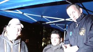 Nur Vize, aber dennoch im Spotlight: Stephan, Marcel und Jens