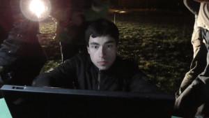Bis spät in der Nacht am Laptop: Turnierleiter Erik
