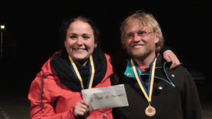 Platz 3 im A: Laura Schneider und Bastian Wienrich