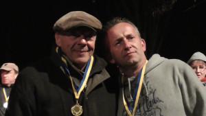 Seriensieger: Jens Riedel (rechts) mit Albert Wendt