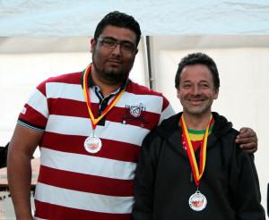 Am Vortag bei der Coppa noch zweitplatziert holen sich Gerald Adler und Fethi Aouissi nun den Landesmeister-Titel Doublette
