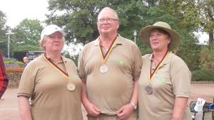 Platz 3: Traudel, Steffen und Monika