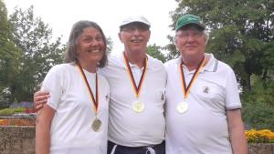Landesmeister und DM-Fahrer: Jennifer, Bernd und Oliver