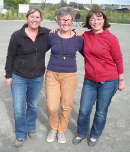 Diana Scheffler, Marlies Niehoff und Regina Stehr holen sich den Landesmeisterinnen-Titel