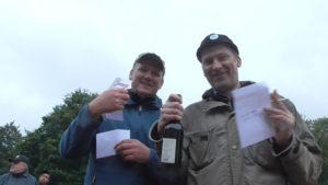 Hakka Jähnig und Jens Farag freuen sich über Platz 3.